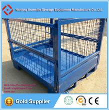 Warehouse Stackable Metal Storage Wire Mesh Pallet Cage