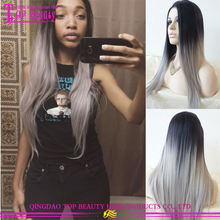 10A grade grey ombre wig wholesale human hair grey lace front wig new design fashion grey color grey wig
