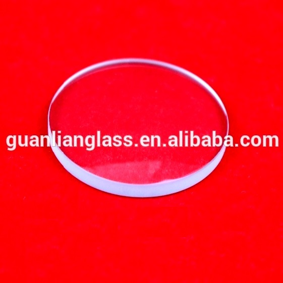 10mm round clear float glass cover for lens