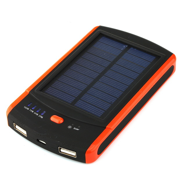 Newest 6000mAh Solar Power Bank Portable Powerbank External Battery Mobile Backup Charger for Samsung iPhone Xiaomi MP3 Speaker
