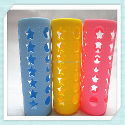Cute Design 2016 Silicone bottle glass cup cover,silicone bottle sleeve, silicone coffee cup cover