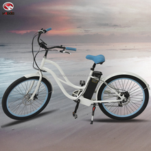 Electric beach cruiser bike woman bicycle cheap sale for rent