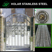 Stainless steel railing and gate