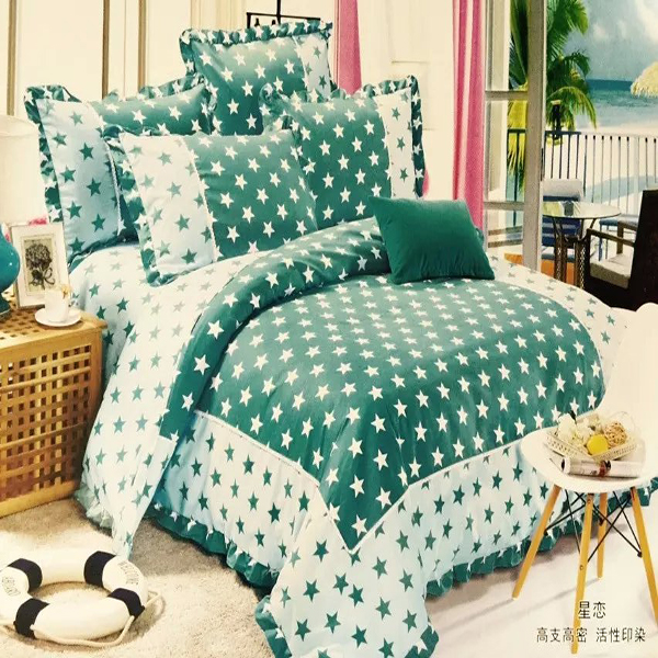 Made in China green queen size indian cotton bed sheets