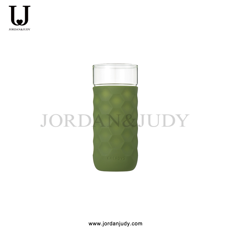 Heat Resistant Glass Water Bottle With Silicone Cover
