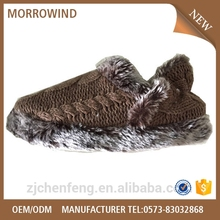 mens cable knit warm slipper with soft cloudy wool lining,TPR outsole comfortable slipper