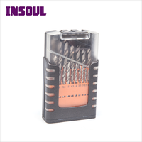 INSOUL 60 PCS,115 PCS Professional High Precision Fully Ground HSS Spiral Flute Drill Bit Set