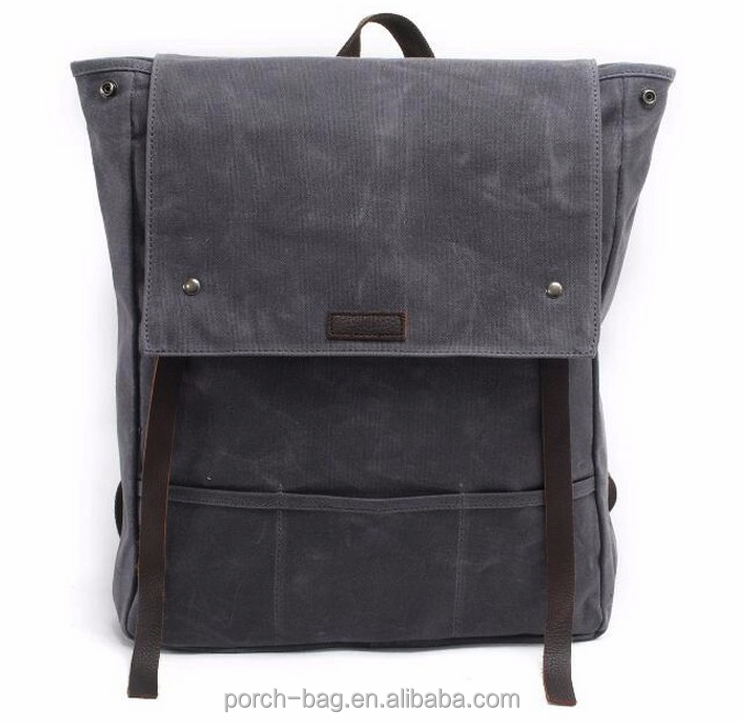 New Waxed Canvas Backpack Bookbags Vintage Travel Laptop Backpack
