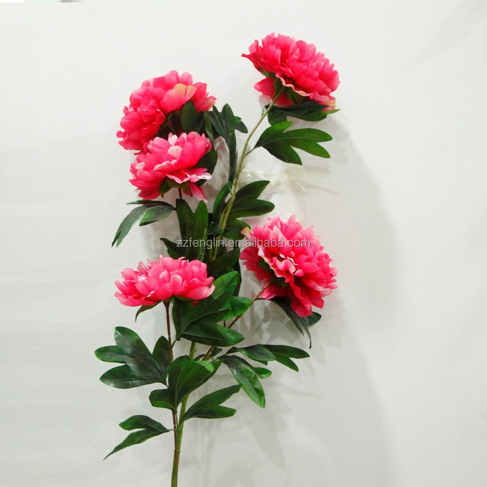 125cm Single Artificial Peony Flower Cheap Wholesale 5