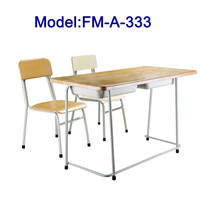 No.FM-A-333 Steel frame student desk and chair