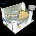 Double deck booth two story trade show booth exhibition display stand