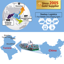 Cheap sea shipping container from china to tunisia tunis