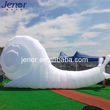 Outdoor decoration giant white inflatable snail for advertising
