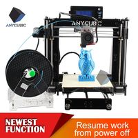 Hot product!!!Anycubic 3d printer machine prusa i3 Attached 4 gitfs
