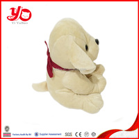 Wholesale soft toys stuffed dog with scarf, new material plush sitting dog