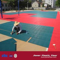 2013 Hot Sale Popular High quality modular tile Suspended Outdoor PP Interlock Basketball Flooring