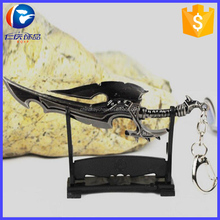 New Arrival World of Warcraft Weapon Keychain WOW Metal Key Chains Chaveiro