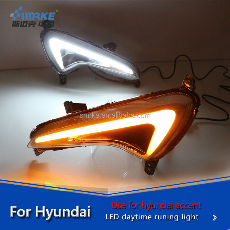 Hyundai lamp parts for hyundai accent 2015-2016 DRL fog lamp daytime runnning light driving light
