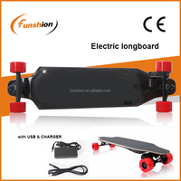 4 wheels 1200watt electric downhill longboard with remote