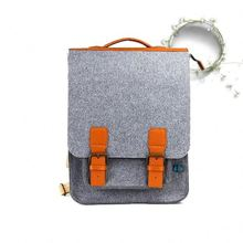 Recyclable belt tablet felt material polo leather laptop bag