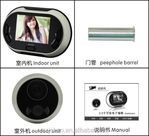 Shenzhen ACTOP peephole viewer door 170 degree wild angle camera