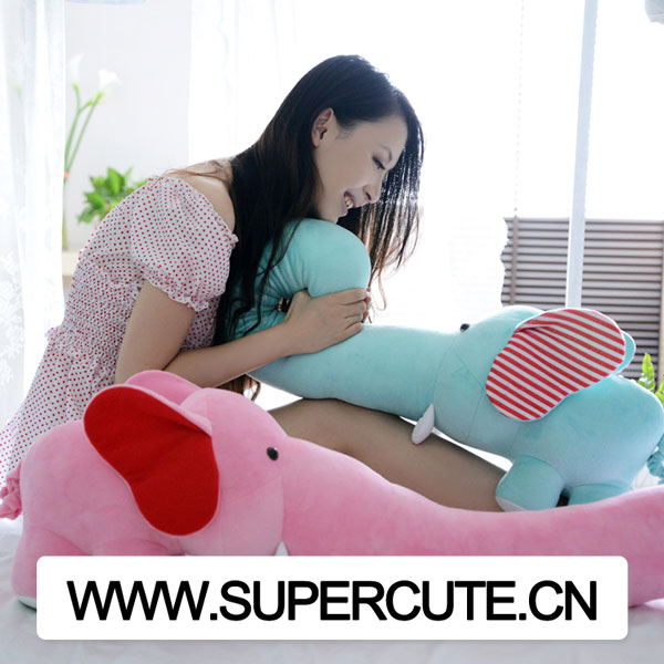 Wholesale creative design big soft long nose elephant custom <strong>plush</strong> toy