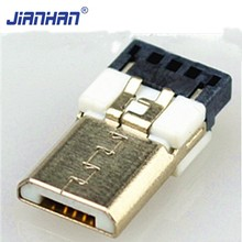 Salable Phone Charging Electrical Parts Crimp Micro USB PCB Connector