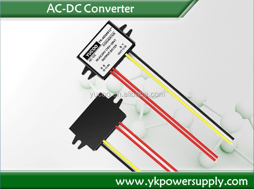 DC Power Converter 24vac to 12vdc