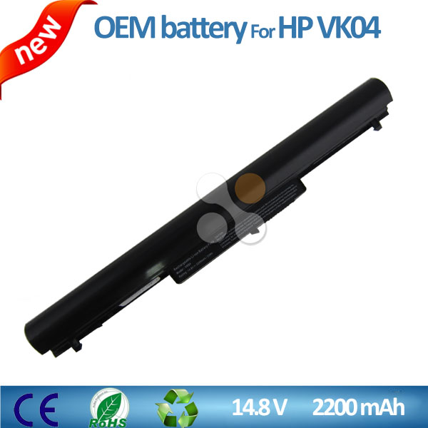 rechargeable Battery 694864-851 695192-001 HSTNN-YB4D VK04 for HP pavilion Sleekbook 14 15 on sale