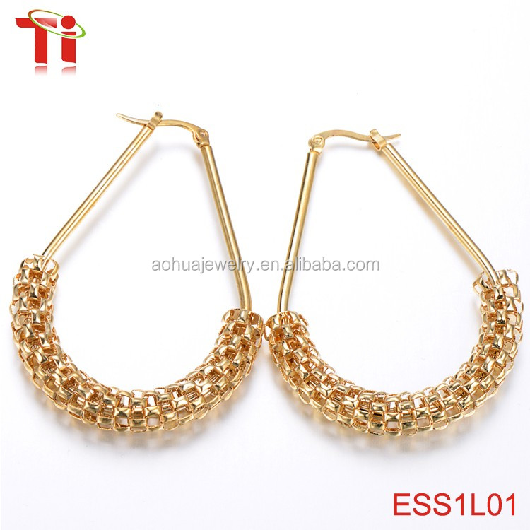 2018 simple gold earring designs for womenfashion high