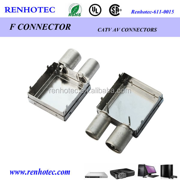 different types F electrical connector box for PCB mount
