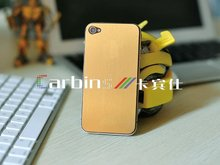 Full body brushed gold skin sticker for iphone 4,4S,5
