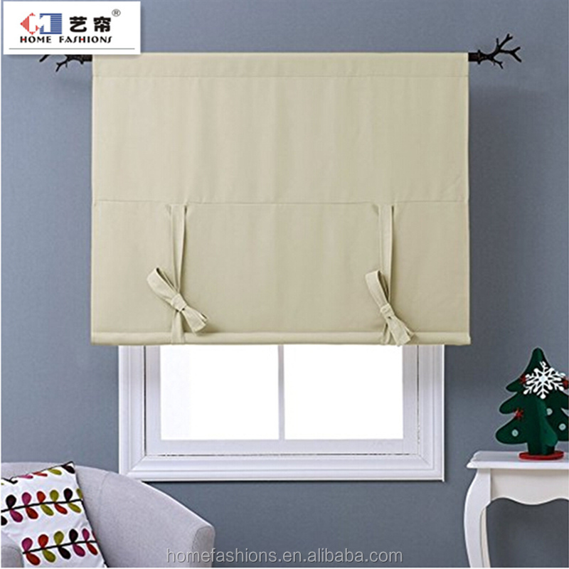 100% Polyester Roman Shade curtains