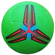 Cheaper Custom Logo Colorful Natural Rubber Football