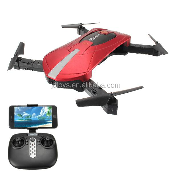 JDTOYS wholesale Mini Pocket foldable selfie RC Quadcopter Drone with 2MP WIFI camera and Altitude Hold Upgraded JY018