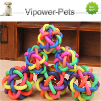 Wholesale Dog Toy Cheap Pet Toys Plastic Toy Ball With Bell For Dog-Pet Product Free Shipping