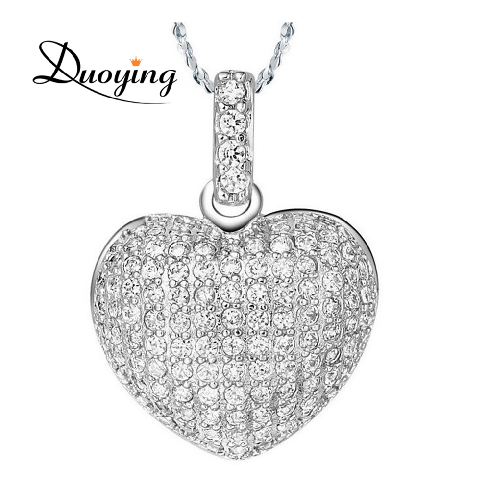 2017 New Arrival Fashion Accessories Wholesale China Full Rhinestone Girls Accessories Heart Necklace, Daily Use Items