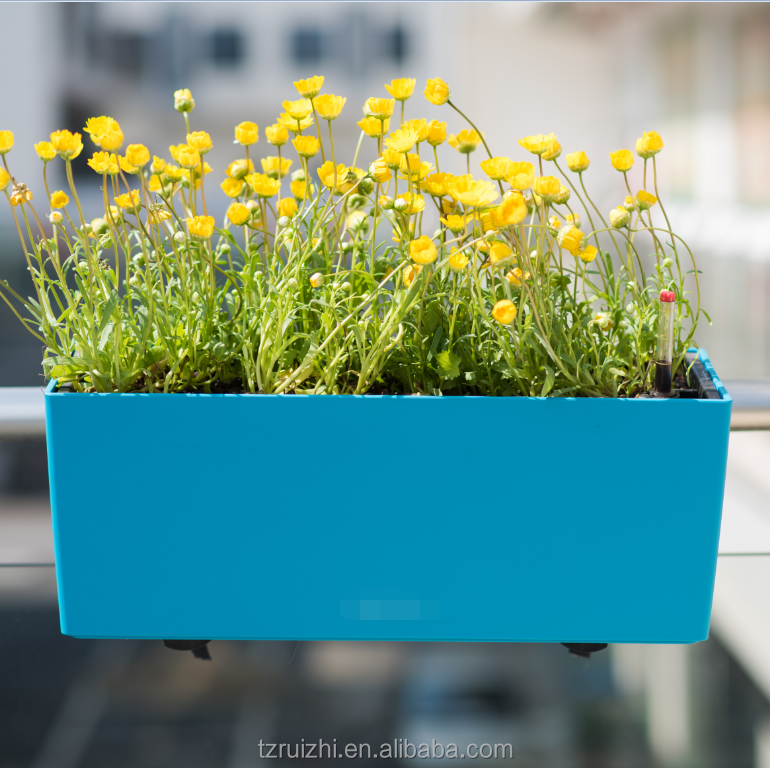 Self Watering Window Box Planter Indoor Outdoor Plastic Windowsill Planter