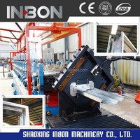 High Speed Metal Door Frame Roll Forming Machine with lock hole station