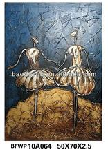 Beautiful Double Dancing Girls Woman Oil Painting