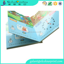 Custom kids sound board book / audio book / musical books with button