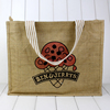 Customized fashion reusable top quality jute bag/jute shopping bag/jute tote bag