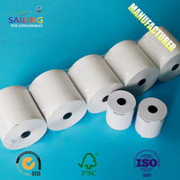 80x80 55gsm/60gsm/65gsm cash register paper thermal paper rolls manufacture