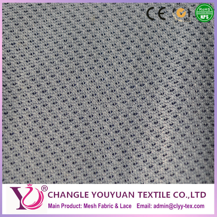 Grey thin two color eyelet fabric for making shoes lining