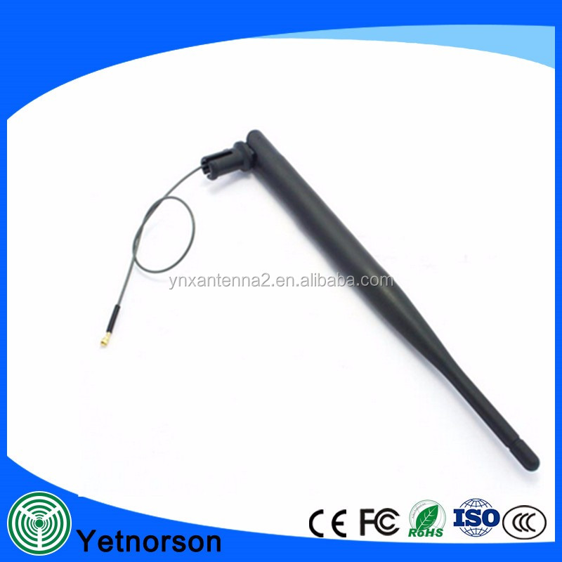 Factory Supply white or black color rubber 2.4G Indoor Active ipex Wifi Antenna