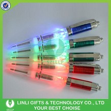 Coloful ABS Light Up LED Pen, Promotional LED Pen, Flashing LED Pen