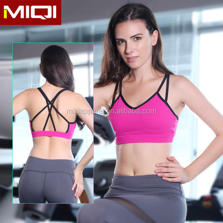 2016 High quality fitness sports wear type girls sexy women sports bra for yoga and running