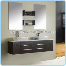 Double Wash Basin Solid Wood cabinet Bathroom Furniture