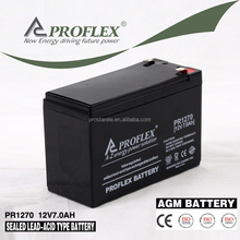 Battery 12V7AH Deep Cycle For UPS Inverter and Solar Wind Power System Sealed Lead Acid Type Maintenance Free