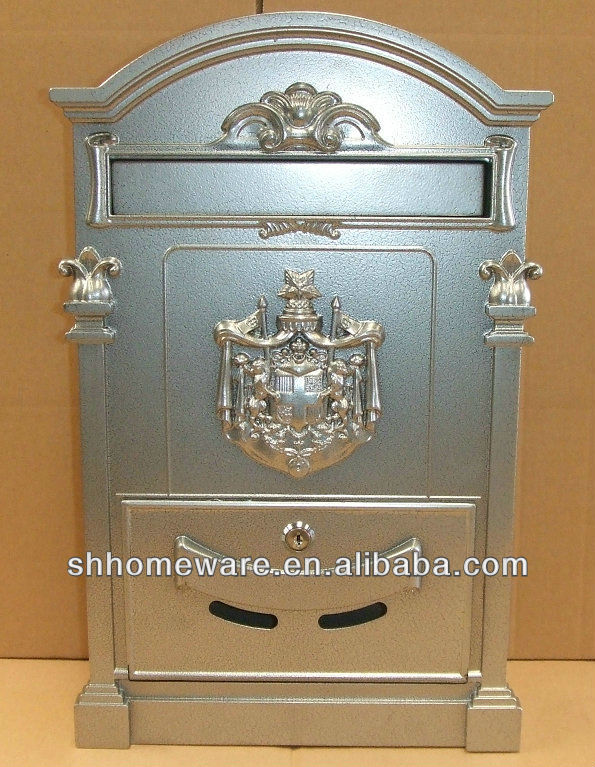 wall mounted cast iron or cast aluminum mailbox